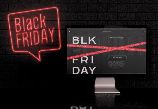 Black Friday Computer Mockup