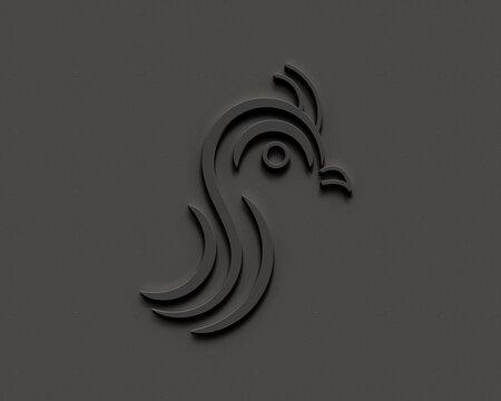 3d logo conceptual design