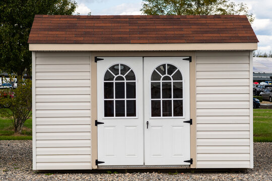 white shed garden shed white wooden outdoors beautiful door