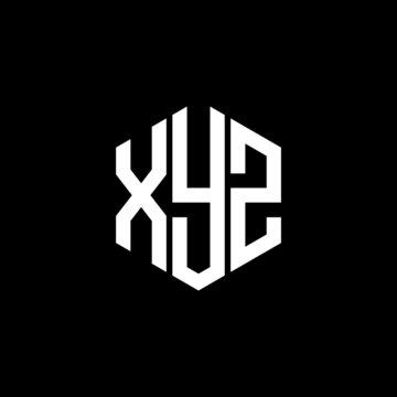 XYZ letter logo icon vector on black background. Creative letter XYZ icon. XYZ vector.