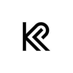 Obraz k p kp initial logo design vector symbol graphic idea creative - fototapety do salonu