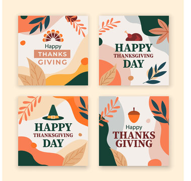 thanksgiving card background, thanksgiving social media template