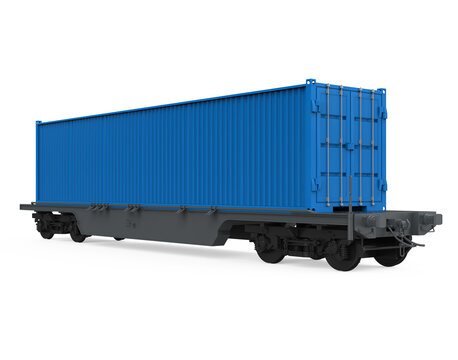 Container Freight Train Isolated
