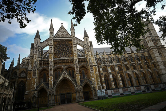 A general view of Westminster Abbey in London