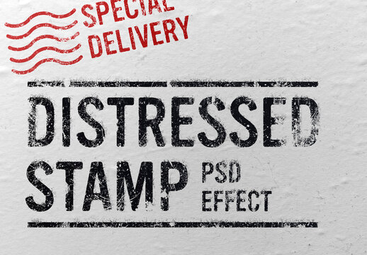 Distressed Stamp Effect