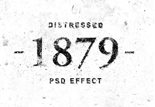 Old Distressed Text Effect