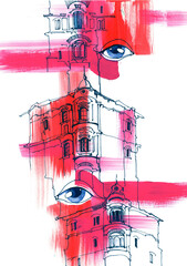architecture and eyes