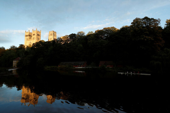 A general view shows Durham Cathedral in Durham