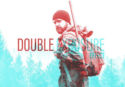 Double Exposure Effect Mockup
