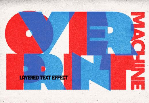 Overprint Effect Mockup