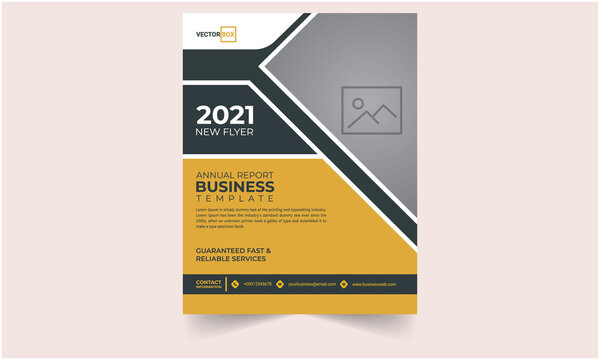 business flyer annual report template Free Vector