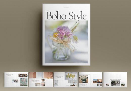 Boho Brochure Layout