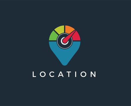minimal location logo template - vector illustration