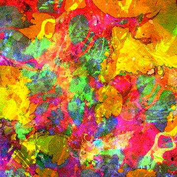 Grunge abstract colorful Background with mud. Watercolor multicolor  dirty pattern. Brushed Painted  texture. Mixed colors. Fluid colored rust. Digital virus. Diffusion and color dispersion.