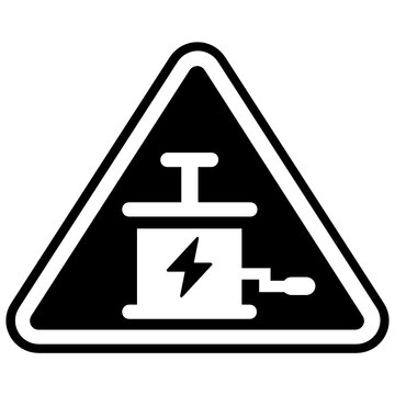 Warning site indication abrasive blasting