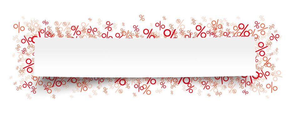 Paper Sticker Red Percents B Header
