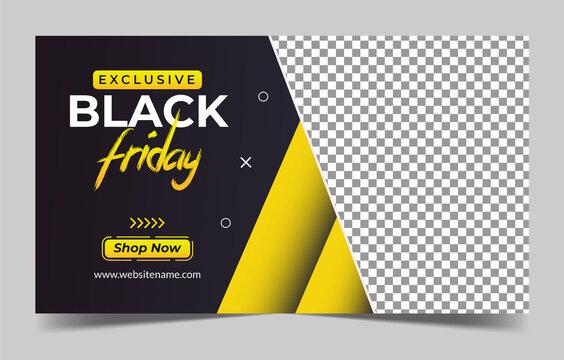 Black Friday sale web banner. discount banner. Vector