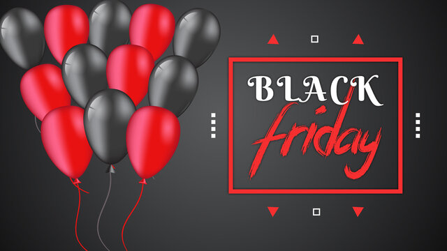 Black Friday sale banner with super discount vector template
