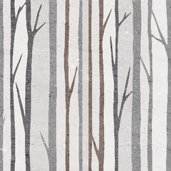 tree stick in brown and grey color poster image design use for wall tiles and wall paper - 383488778