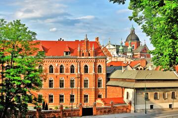 Widok miasta Krakowa