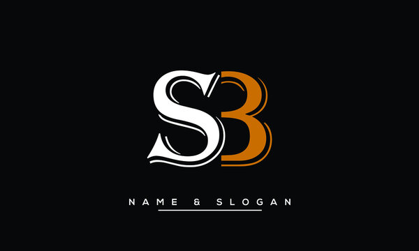 SB, BS, S, B  Abstract Letters Logo Monogram