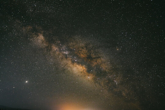 Long exposure of the night sky and Milky Way in Baja, Mexico.