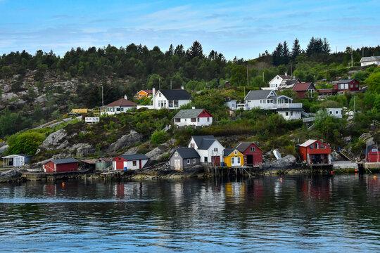 Cruising into Bergen Norway