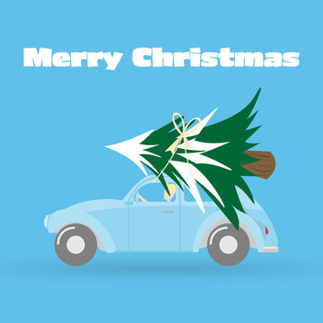 Merry Christmas and Happy New Year greeting card background.vector illustrat