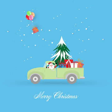 Merry Christmas and Happy New Year greeting card background for decoration.