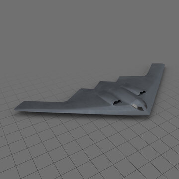 Stylized stealth bomber