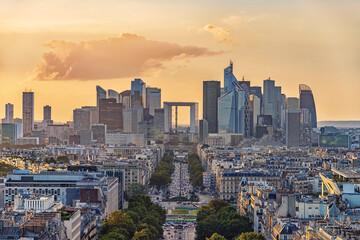 Fototapete - La Defense, the business district in Paris