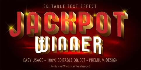 Fototapeta Editable text effect - jackpot prize style. Eps vector file.