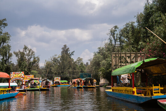 Xochimilco boats in southern Mexico City