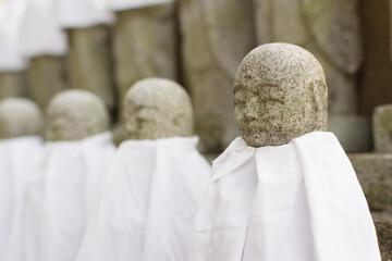 Japanese stone statue Ksitigarbha Bodhisattva