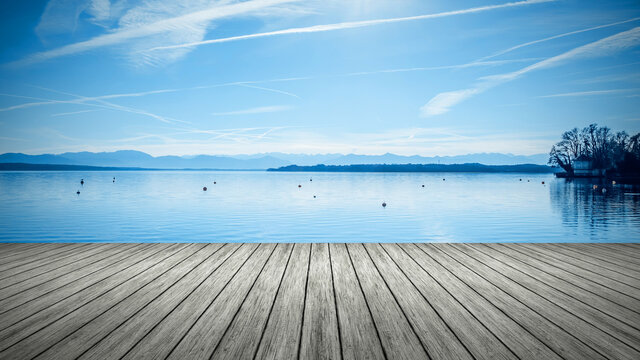 wooden jetty Tutzing
