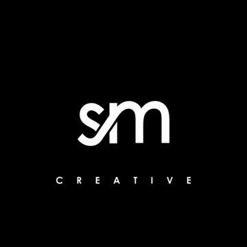 SM Letter Initial Logo Design Template Vector Illustration