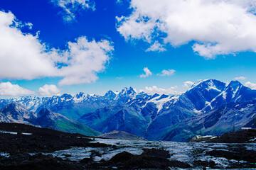 Beautiful landscape of mount Elbrus
