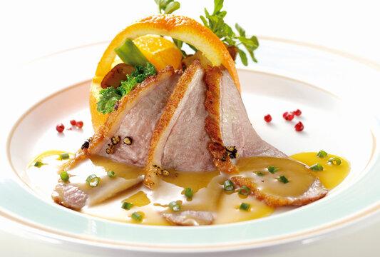 フランス鴨のステーキ