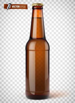 Bouteille de bière vectorielle sur fond transparent