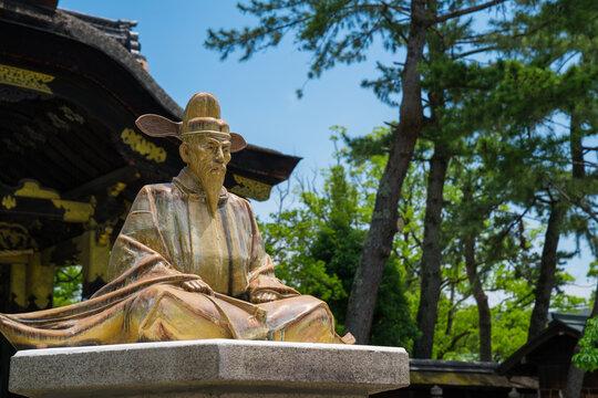 京都 豊国神社の豊臣秀吉像