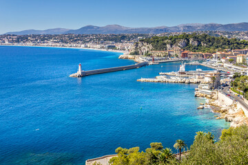 The coast of Nice, South of France