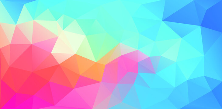 pastel colors vector background. geometric triangle.