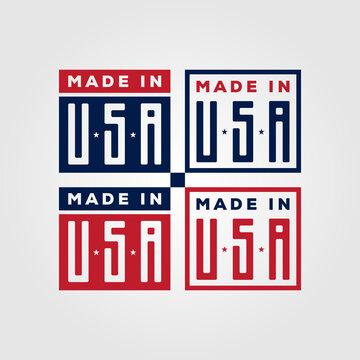 made in usa american symbol vector illustration design