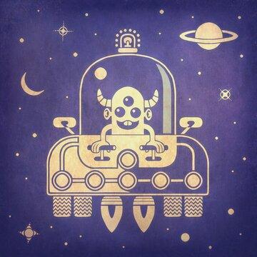 Alien Express spacecraft illustration