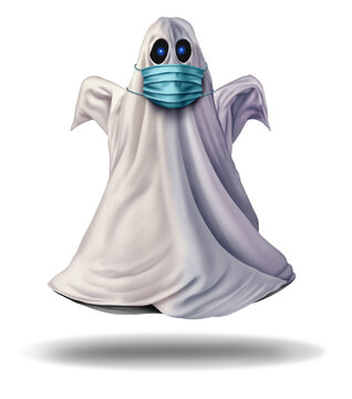 Ghost Wearing A Face Mask