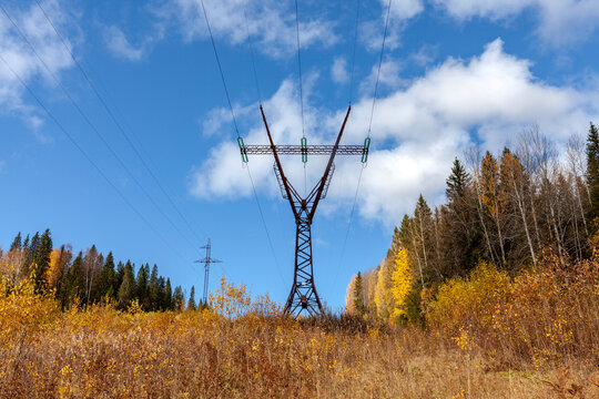 Power transmission support. Autumn