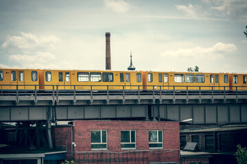 vintage shoot of the yellow berlin subway