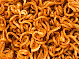 fried soy sauce noodles food background