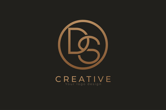 Abstract initial letter D and S logo, usable for branding and business logos, Flat Logo Design Template, vector illustration