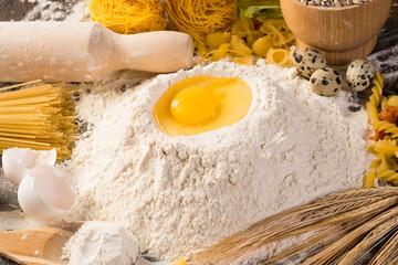 flour, eggs, wheat still-life